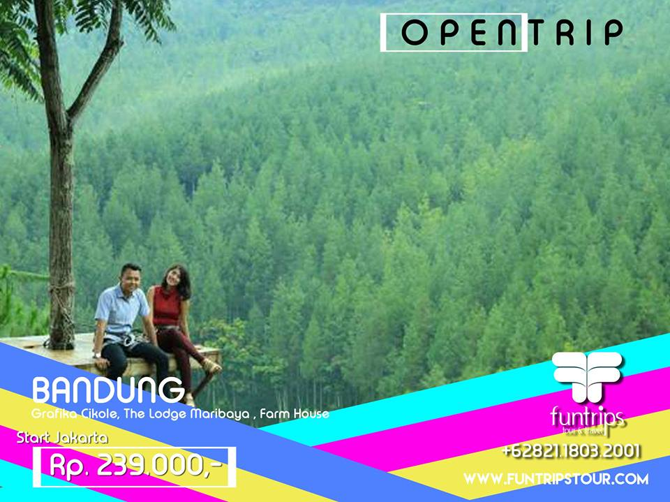 Open Trip Maribaya Bandung 1 Hari